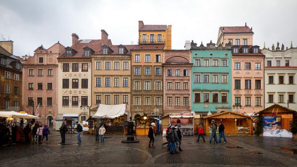 Krakkó óvárosi piactér