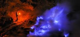 Kawah Ijen tűzhányó kék tava