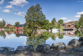 A faluni rézbánya és környéke Svédországban
