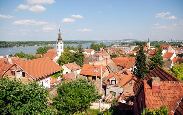 Zimony - kilátás Belgrádra