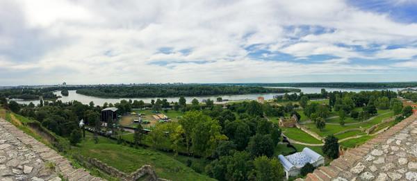 Belgrád - Kilátás a várból