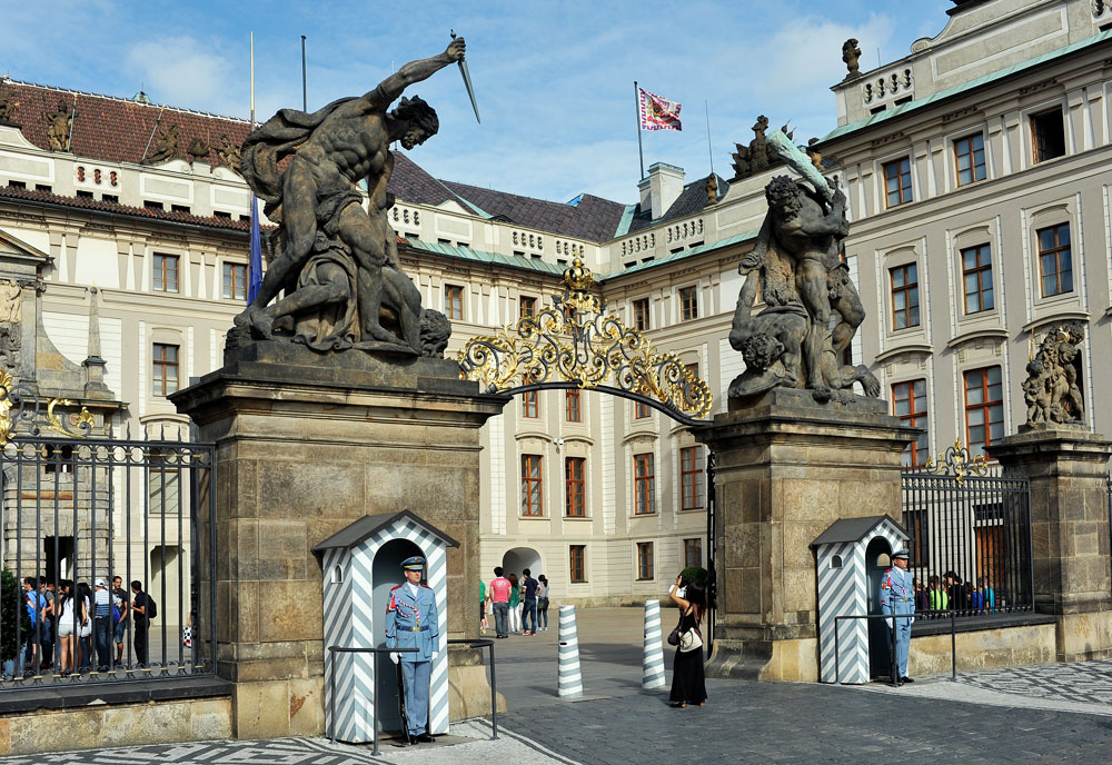 Prágai vár őrségváltás