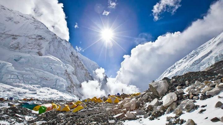 Gyönyörű felvételek a Mount Everest alaptáborából