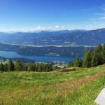 lélegzetelállító a kilátás az Alexanderhütte elől