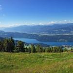 fenséges panoráma a Millstatti tóra és körbe a hegyekre